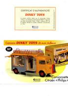 DINKY TOYS CAMIONS: REF 587 CAMIONNETTE CITROEN PHILIPS - FICHE TECHNIQUE & CERTIFICAT D'AUTHENTICITE - Catalogues & Prospectus