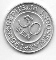 *indonesia 50 Sen 1961 Km 14   Bu/ms65 - Indonesia