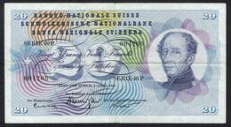 Billet De 20 Francs - Suisse - Général Dufour - Switzerland