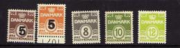 Danemark (1933- ) - Chiffre -  Neufs** - Nuovi