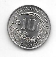 *indonesia 10 Rupiah 1971 Km 33  Bu/ms65 - Indonesia
