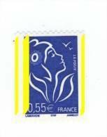 Lamouche 0.55 € Bleu De Roulette YT 3807 Avec 3 Bandes Phospho . Superbe , Voir Le Scan . Maury N° 3746c : 18 € . - Variedades: 2000-09 Nuevos