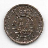 *portuguese  India 10 Centavos  1961 Km 30   Unc /ms63 - India