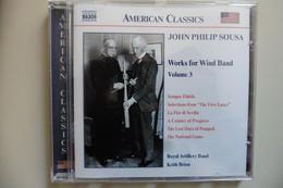 CD American Classics - John Philip Sousa - Works For Wind Band Vol 3 - Naxos - Fanfare - Klassik