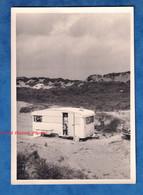 Photo Ancienne Snapshot - BRAY DUNES - Camping Sur La Plage - 1963 - Caravane Automobile Famille - Cars