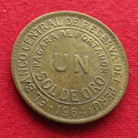 Peru 1 Un Sol De Oro 1964 KM# 222 Perou - Perú