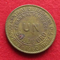 Peru 1 Un Sol De Oro 1960 KM# 222 Perou - Perú