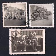 LOT W/3 REAL PHOTOS PORTUGAL LISBOA FUNCIONÁRIOS DA CAMARA MUNICIPAL JUNTO DE CAMIÕES E MÁQUINAS - 1950'S (SÃO FOTOS) - Cars