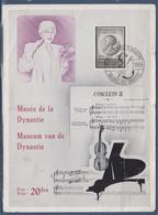 Musée De La Dynastie Bruxelles 23.12.1965 Musique, Piano, Violon, Partition - Maximum Cards