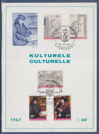 CRTS 75ème Anniversaire Culturelle Charleroi 2.9.67 Avec 5 Timbres - Maximum Cards