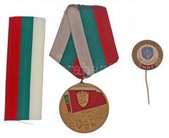 """Bulgária 1974. """"Jubileumi Emlékérem A Belügyminisztérium 30 éves évfordulójára"""" Aranyozott, Zománcozott Fém Emlékérem Me - Coins & Banknotes"""