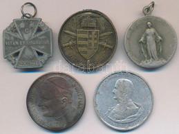 """5db-os Vegyes Emlékérem, Kitüntetés Tétel, Közte 1916. """"Károly-csapatkereszt"""" Cink Kitüntetés Mellszalag Nélkül, 1939. """" - Coins & Banknotes"""