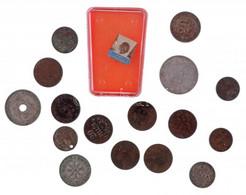 """17db-os Vegyes érme, Jelvény Tétel, Közte Fillérek, 1938. """"Szerencsét Hozok"""" Cu-Ni Szerencsepénz, """"Hűséggel A Nép Egészs - Coins & Banknotes"""