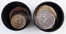 Vegyes Külföldi Fémpénz Tétel ~170g-os Súlyban T:vegyes Mixed Coins In ~170g Weight C:mixed - Coins & Banknotes