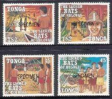 Tonga 1992 Legend Of The Bat MNH Specimen Set - Mother Of Pearl On Hat - Tonga (1970-...)
