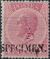 [* SUP] N° 20, 40c Rose Avec Surcharge Specimen En Noir. Rare - Cote: 330€ - 1865-1866 Profile Left