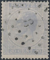 [O SUP] N° 18A, Obl Centrale 'LP8' Annevoie. Coba +10 € - 1865-1866 Profile Left