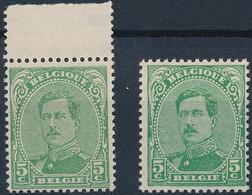 [** SUP] N° 137+137a, 5c Vert - Les 2 Nuances - Cote: 23€ - 1915-1920 Albert I