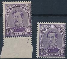 [** SUP] N° 139+139a, 15c Violet - Les 2 Nuances - Cote: 24€ - 1915-1920 Albert I
