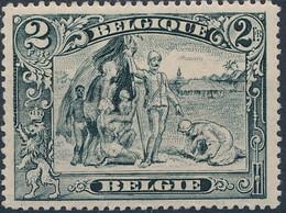 [** SUP] N° 146b, 2F Gris Pâle (nègre Blanc) - Cote: 170€ - 1915-1920 Albert I