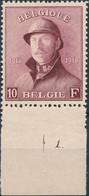 [** SUP] N° 178, 10F Lie De Vin. Fraîcheur Postale Et TB Centrage. N° De Planche 1. LUXE - 1919-1920 Trench Helmet