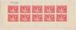 [** SUP] F244, 5F+1F Rouge - Le Feuillet De 10 (non Plié). - Cote: 550€ - Unclassified