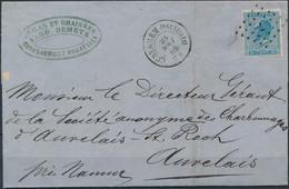 [Lettre SUP] N° 18A Sur TB Lettre Obl 'LP7' Cureghem (Bruxelles) Le 28 Aout 1868 Vers Auvelais. Frappes Superbes - 1865-1866 Profile Left
