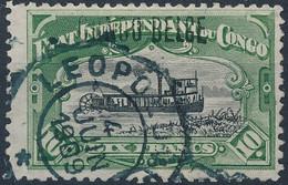 [O SUP] N° 39L, 10F Vert (dent 12). TB Obl 'Leopoldville' - Cote: 125€ - Congo Belge
