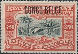 [* SUP] N° 47, 3,50F Vermillon. Infime Trace - Cote: 55€ - Belgian Congo