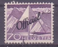 Schweiz Verwaltungsmarke: SBK-Nr. 75 (Technik Und Landschaft, 1950) Gestempelt - Servizio