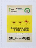 Uruguay 2012 Mnh- Signalisation Signaling Seguridad Vial-si Bebe No Conduza- If You Drink Do Not Drive- Wine- Yvert 2602 - Uruguay