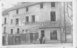 CARTE PHOTO BEAUMONT SUR OISE RESTAURANT AUX SEPT CORPORATIONS Maison VAYSSIERE BOULANGERIE F. MAILLARD - Beaumont Sur Oise