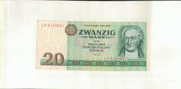 ALLEMAGNE 20 Mark 1975 République Démocratique Allemande Billet  TTB+  Sept 2020  Clas Noir 19 - [ 6] 1949-1990: DDR - Duitse Dem. Rep.