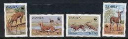 Zambia 1987 WWF Black Lechwe MUH - Zambia (1965-...)