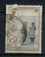 Swaziland 1956 QEII Pictorials 1/3d FU - Swaziland (1968-...)