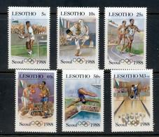 Lesotho 1987 Summer Olympics Seoul, New Values MUH - Lesotho (1966-...)