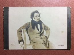Austrian Composer Franz SCHUBERT. Tsarist Russia Tinted Postcard 1909s Great Music. - Music And Musicians