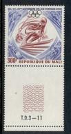 Mali 1974 Wonter Olympics 50th Anniv. Skiier MUH - Mali (1959-...)