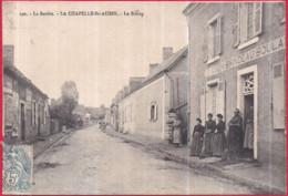 Dépt 72 - LA CHAPELLE-SAINT-AUBIN - Le Bourg - Animée - Boulangerie GOUIN-BRINDEAU - Frankreich
