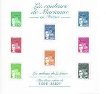 FEUILLET LES VALEURS DE LA LETTRE EN FRANCS MARIANNE DE LUQUET IMPECCABLE - Mint/Hinged