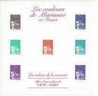 FEUILLET LES VALEURS DE LA MONNAIE EN FRANCS MARIANNE DE LUQUET IMPECCABLE - Mint/Hinged