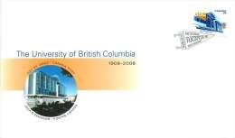 2008   University Of British Columbia  Sc 2264  Single From Booklet - Omslagen Van De Eerste Dagen (FDC)
