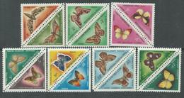MALI Taxe  N° 7 / 20 X  Papillons La Série Des 14 Valeurs Se Tenant 2 Par 2 Trace De Charnière Sinon TB - Mali (1959-...)