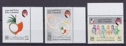 Bahrain 2002 Mi. 718-20 Day Of Arab Women Tag Der Arabischen Frau M. Rände Complete Set MNH** - Bahrein (1965-...)