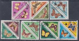 MALI Taxe  N° 21 / 34 O  Papillons Surchargés La Série Des 14 Valeurs Se Tenant 2 Par 2 Oblitération Légère  Sinon TB - Mali (1959-...)