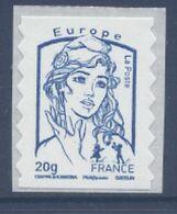 N° 852 Marianne Adhésif Année 2013, Valeur Faciale 20g Bleue Europe - Frankreich