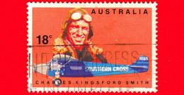 AUSTRALIA ~  Usato ~ 1978 - 50 Anni Del Primo Volo Trans Pacifico 1928-1978 - I Primi Aviatori - Charles Kingsford Smith - 1966-79 Elizabeth II