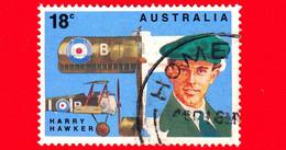 AUSTRALIA ~  Usato ~ 1978 - 50 Anni Del Primo Volo Trans Pacifico 1928-1978 - I Primi Aviatori - Harry Hawker - 18 C - 1966-79 Elizabeth II