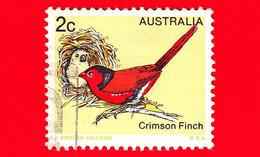 AUSTRALIA ~  Usato ~ 1979 - Animali (Fauna) - Uccelli - Crimson Finch (Neochmia Phaeton) - 2 - 1966-79 Elizabeth II