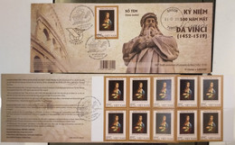 FDC Vietnam Viet Nam Booklet 2019 : 500th Death Anniversary Of Leonardo Da Vinci (Ms1117) - Vietnam